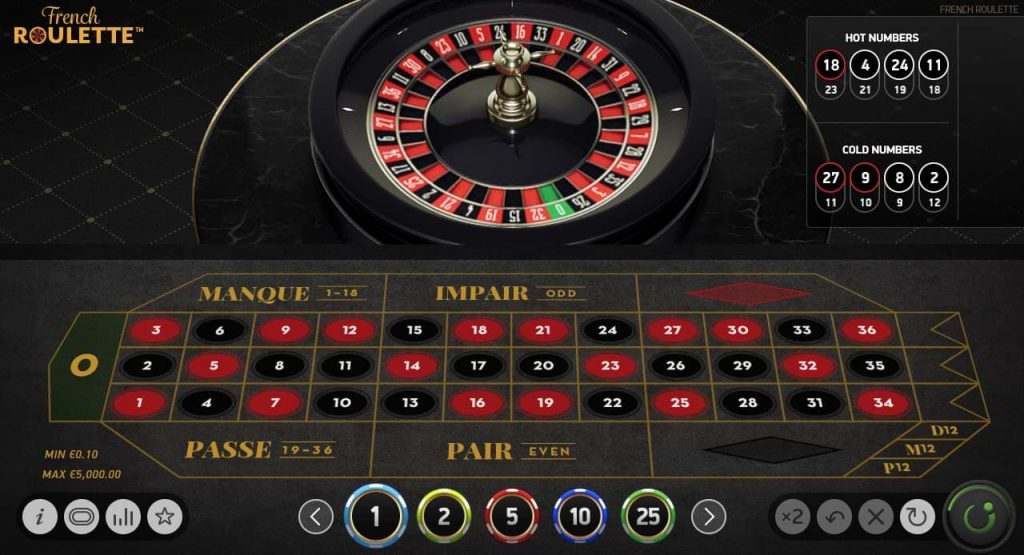French roulette game screenshot