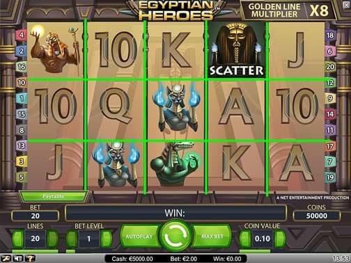 Egyptian Heroes video slot