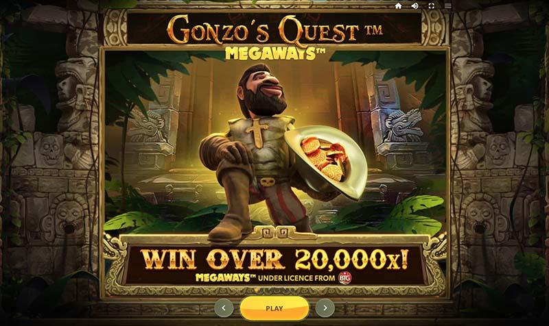 Gonzo's Quest Megaways™ screenshot start