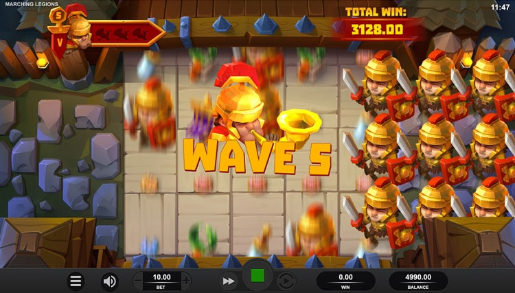 Marching Legions free spins screenshot