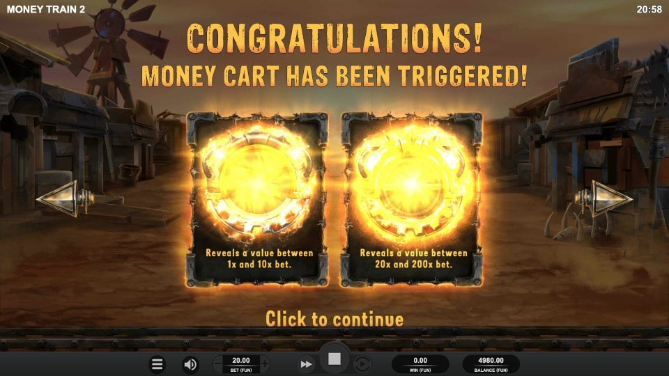 Money Train 2 Money Cart Bonus