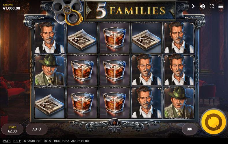 5 Families slot base game