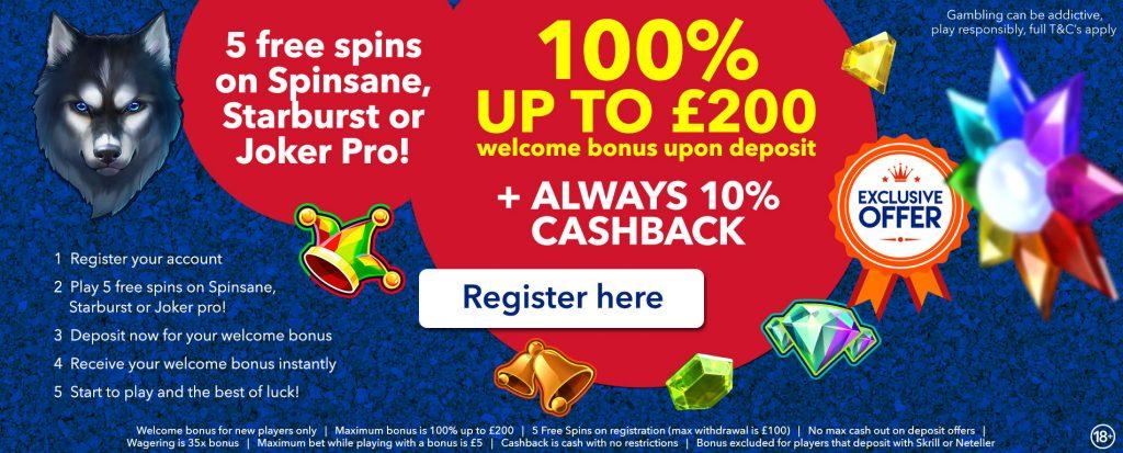 All British Casino special promotion