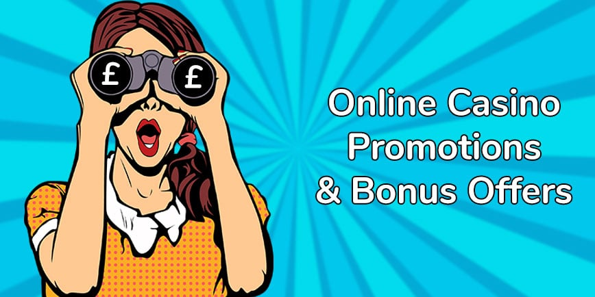 Online casino promotions and bonus offers