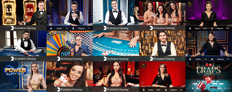 Race Casino live table games