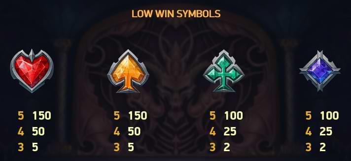 Blood Suckers II Low Win Symbols